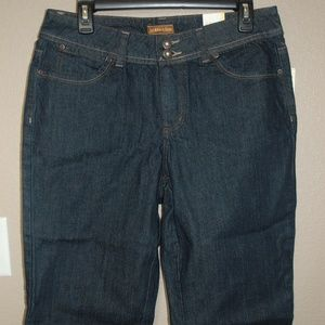 NWT St. John's Bay Cropped Jeans Size 10